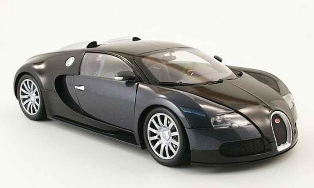 Bugatti Veyron 16.4 1/18 Minichamps noire/grise 2009 miniature
