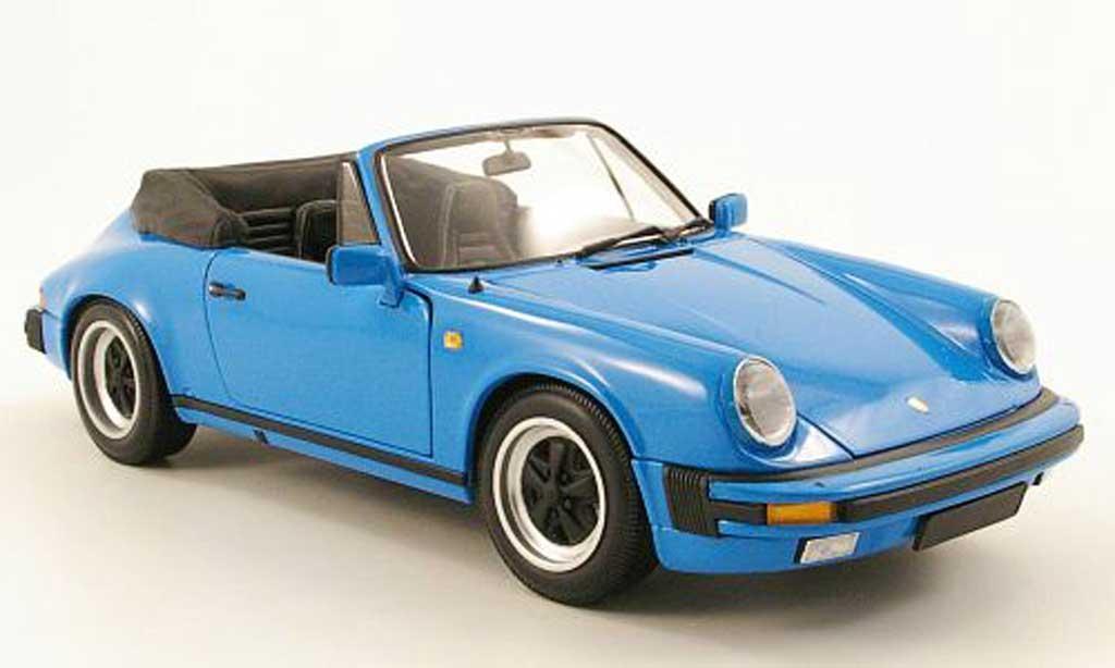 Porsche 930 Speedster 1/18 Minichamps carrera cabriolet bleu clair 1983 miniature