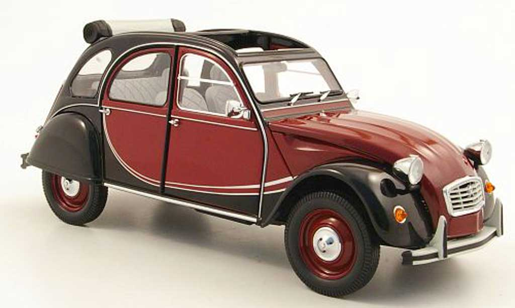 Citroen 2CV 1/18 Minichamps Charleston rouge/noire 1981 miniature