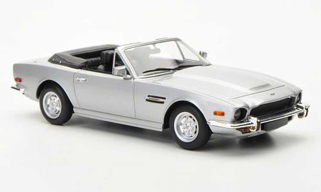 Aston Martin V8 Volante 1/43 Minichamps grise LHD 1987 miniature