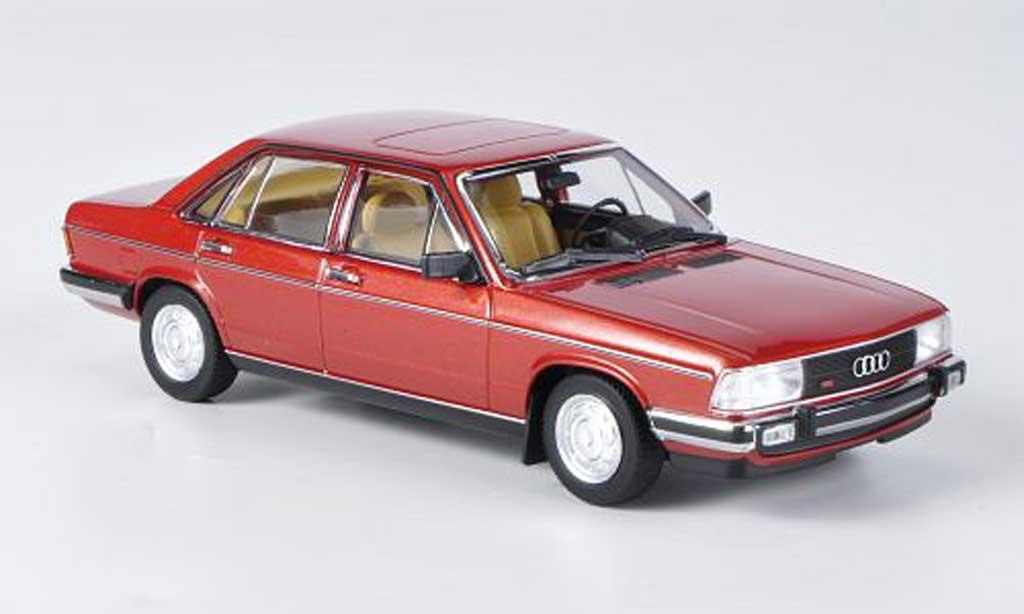 Audi 100 1/43 Minichamps GL (C2) rouge 1979 miniature
