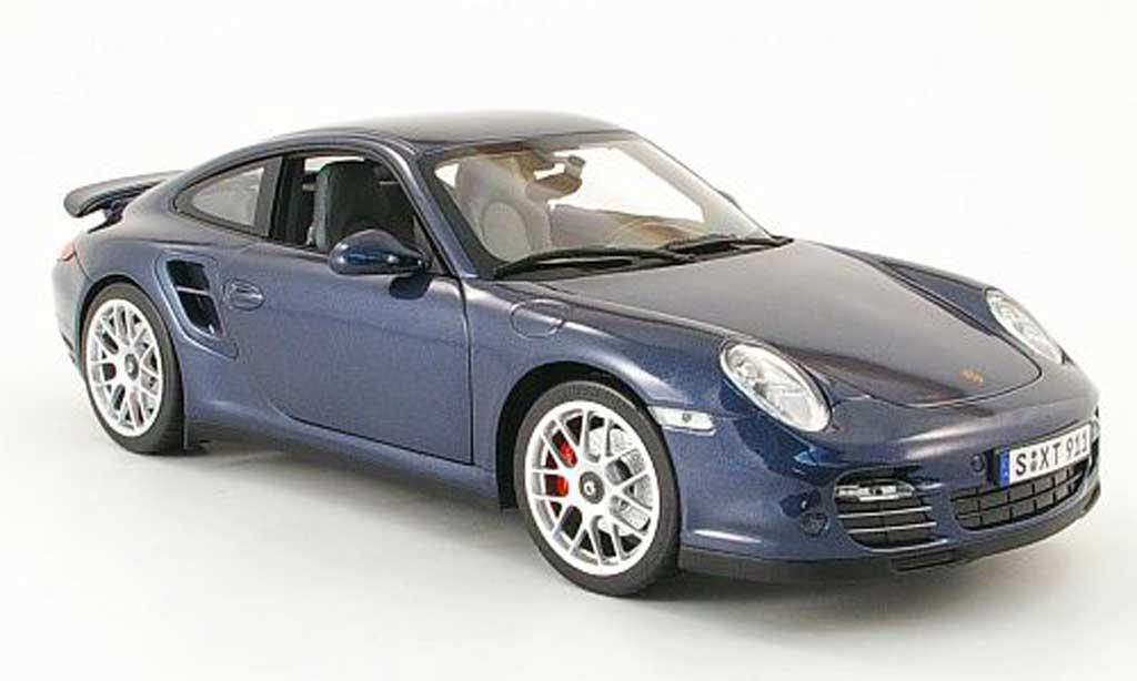 Porsche 997 Turbo 1/18 Norev bleu 2009 miniature