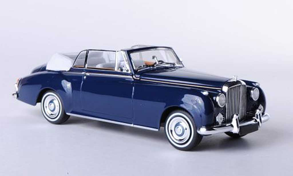 Bentley Continental S2 1/43 Minichamps S2 Cabriolet bleu 1960 miniature