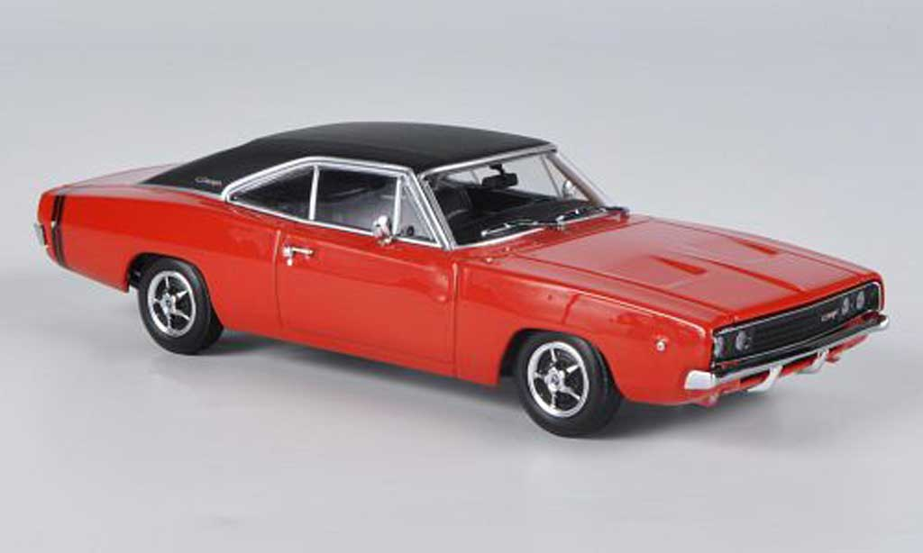 Dodge Charger 1968 1/43 Minichamps Charger R/T red/mattblack diecast