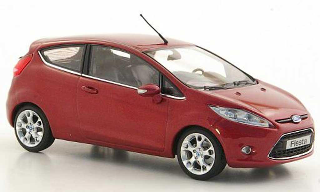 Ford Fiesta 1/43 Minichamps Mk VII lila 3-Turer 2008 miniature