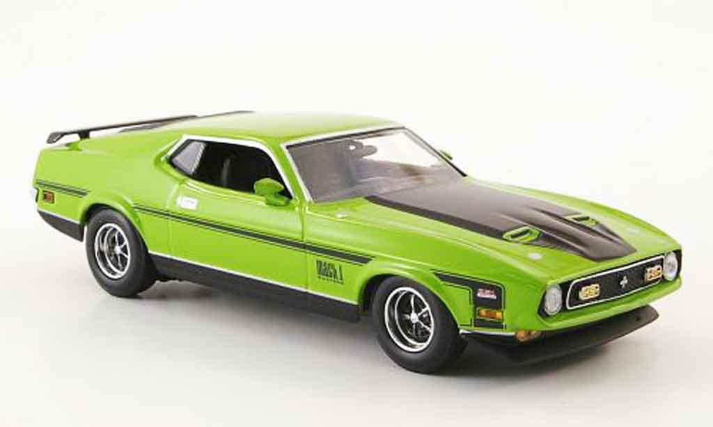 Ford Mustang 1971 1/43 Minichamps 1971 Mach 1 grun 1971 miniature