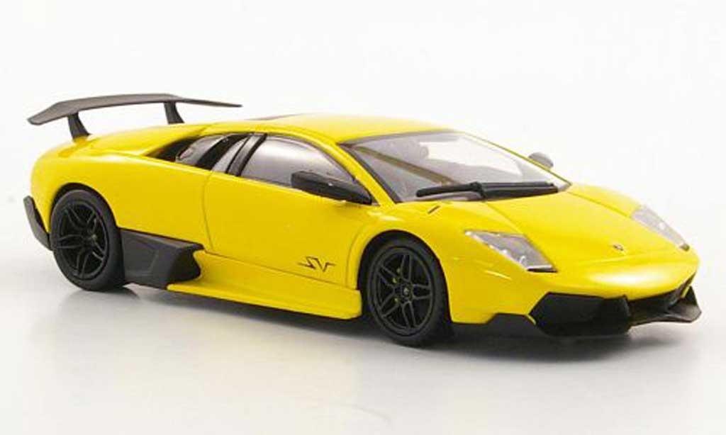 Lamborghini Murcielago LP670 1/43 Minichamps SV jaune 2009 miniature