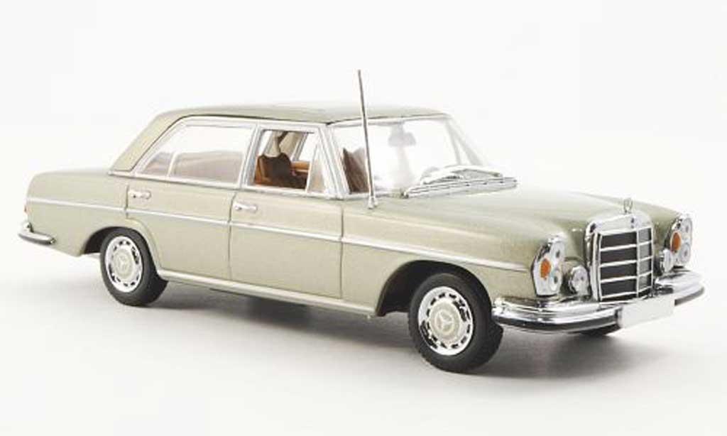 Mercedes 300 SEL 1/43 Minichamps 6.3 (W109) verde 1968 miniatura