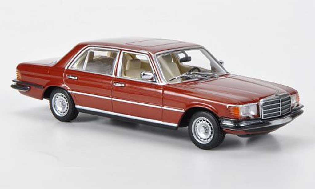 Mercedes 450 SEL 1/43 Minichamps 6.9 (W116) marronrouge 1974 miniature