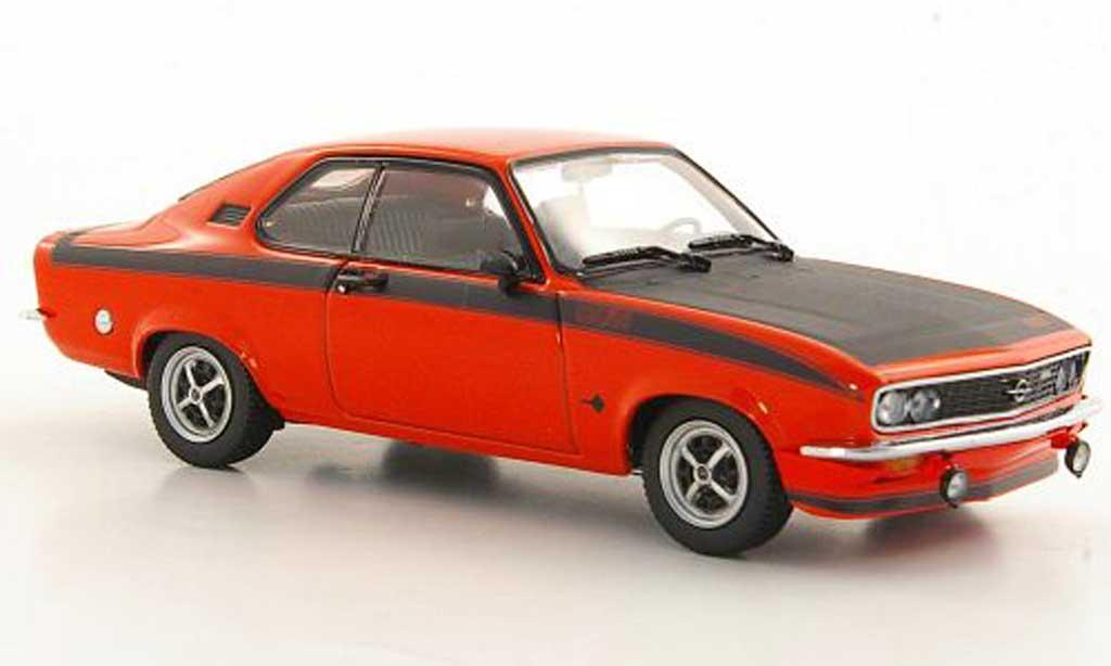 Opel Manta A 1/43 Minichamps GT/E rouge/mattnoire 1974 miniature