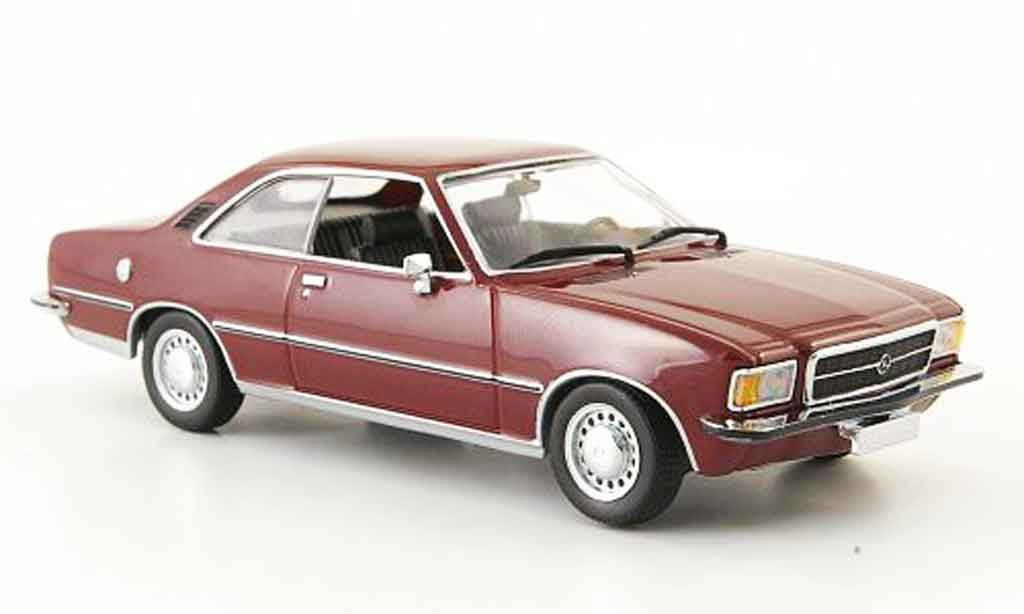 Opel Rekord 1/43 Minichamps d coupe  rouge 1975 miniature