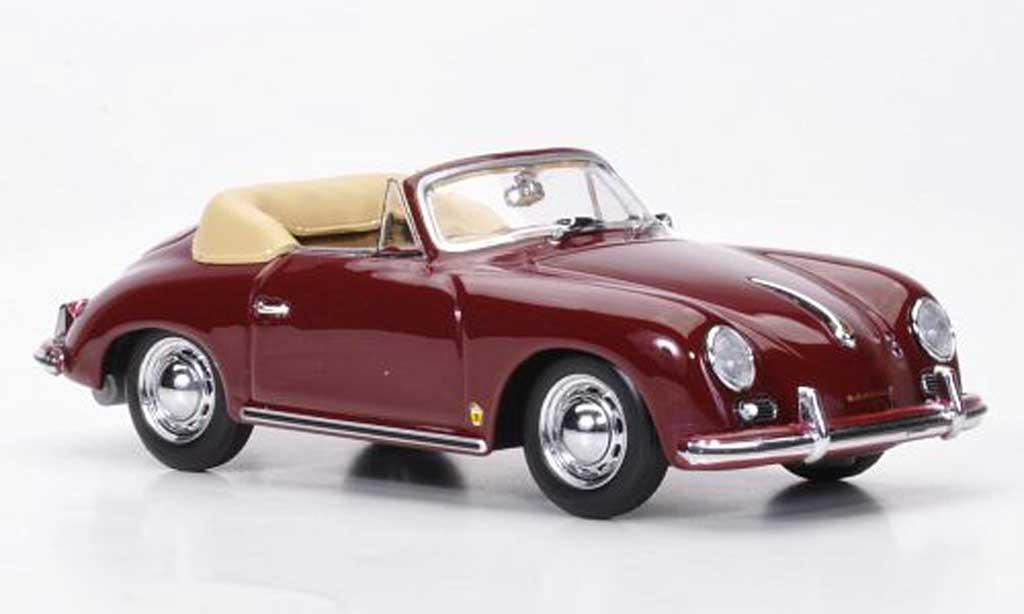 Porsche 356 1956 1/43 Minichamps Cabriolet red diecast model cars