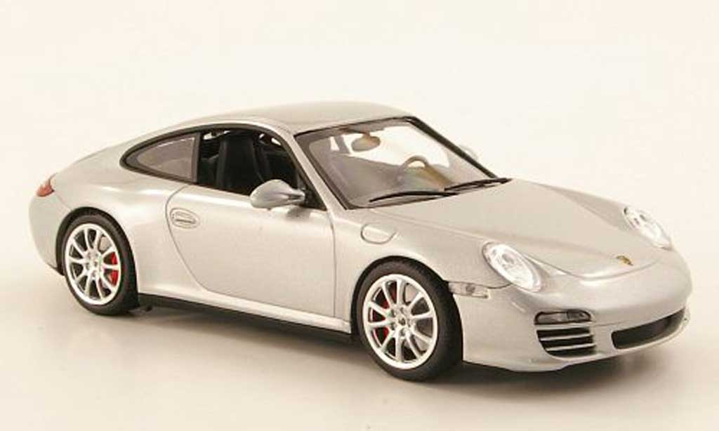 Porsche 997 4S 1/43 Minichamps Carrera (II) grey 2008 diecast model cars
