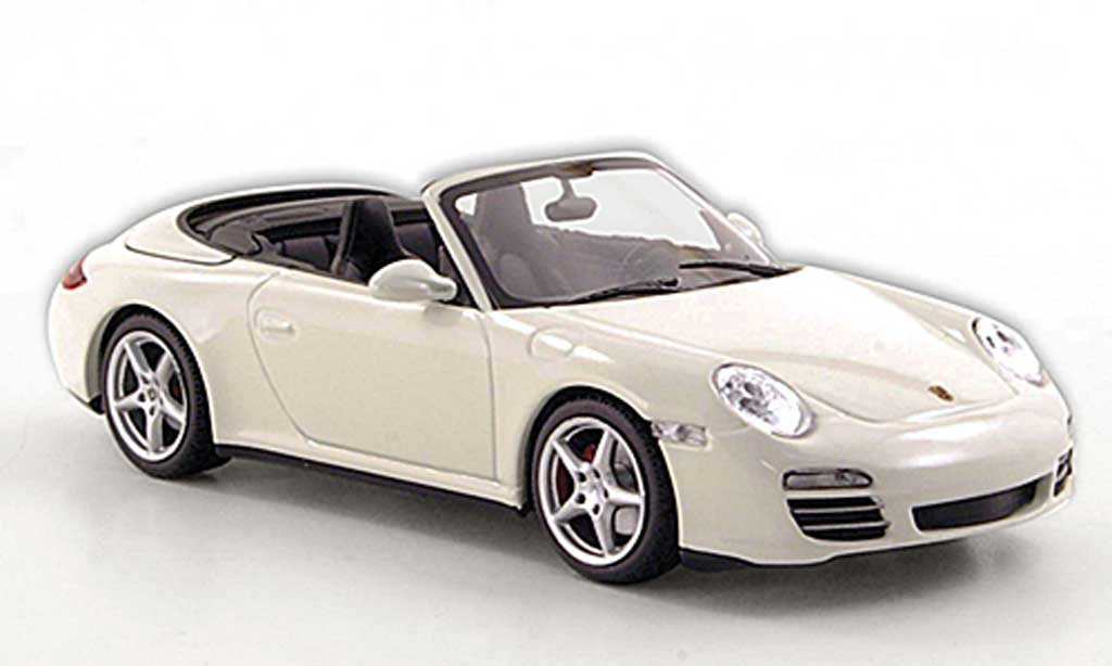 Porsche 997 Cabriolet 1/43 Minichamps 4S (997 II) blanche 2008 miniature