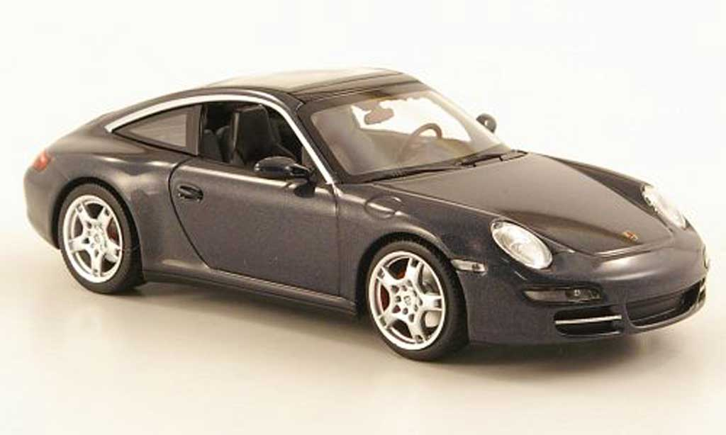 Porsche 997 Targa 1/43 Minichamps Carrera grey 2006 diecast model cars