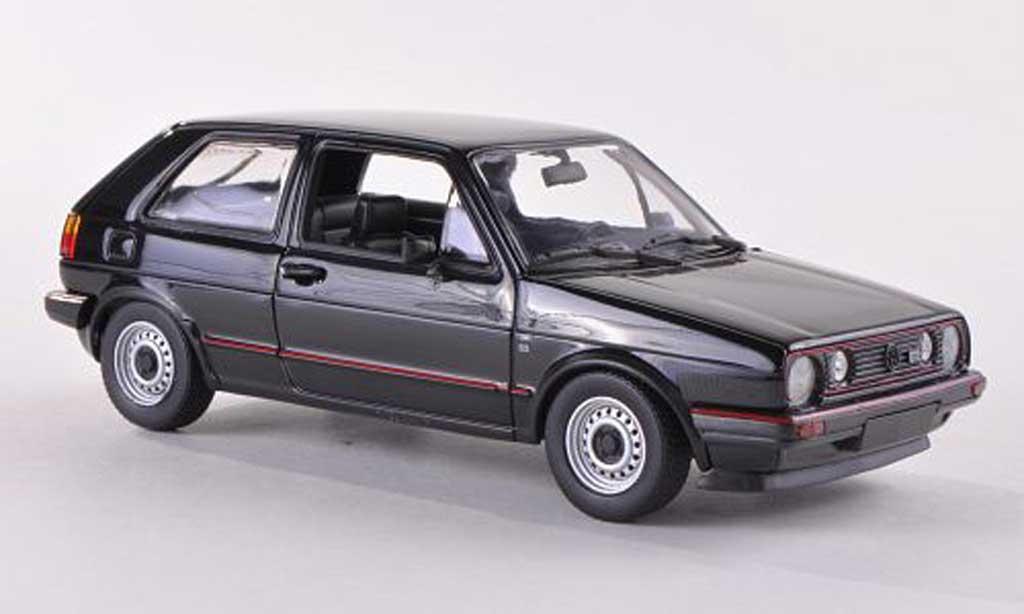 Volkswagen Golf 2 GTI 1/43 Minichamps noir 1985 diecast model cars