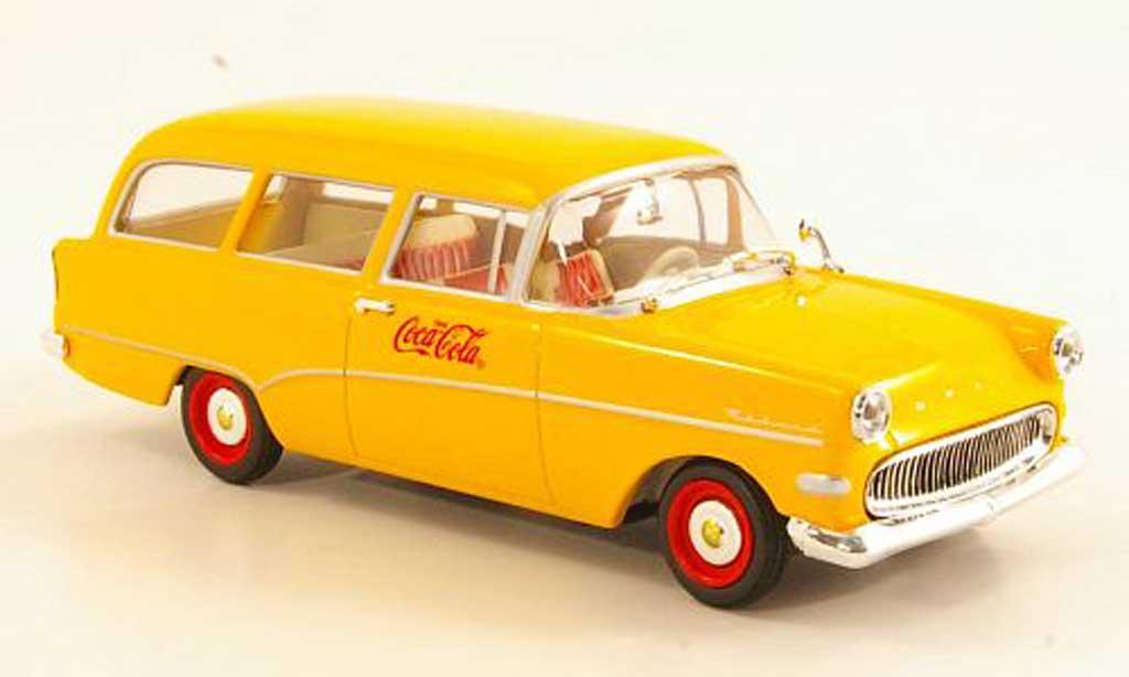 Opel Rekord 1/43 Minichamps P1 CarAVan Coca-Cola jaune 1958 miniature