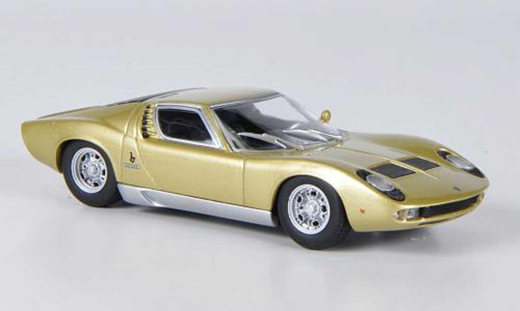 Lamborghini Miura S 1/43 Minichamps gold 1969 diecast