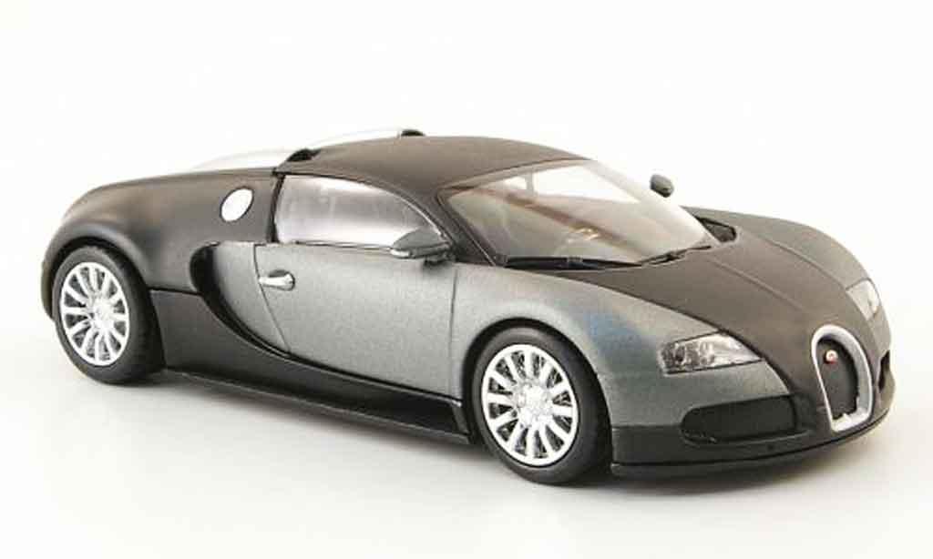 Bugatti Veyron 16.4 1/43 Minichamps mat black gray 2009 diecast