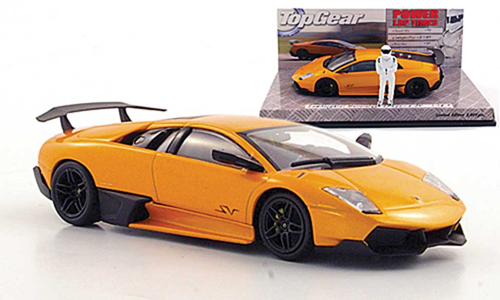 Lamborghini Murcielago LP670 1/43 Minichamps SV orange avec Figur ''The Stig'' diecast