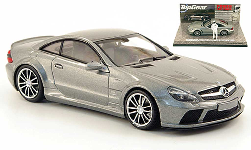 Mercedes Classe SL 65 1/43 Minichamps 65 AMG Black Series (R230) grise avec Figur The Stig 2009