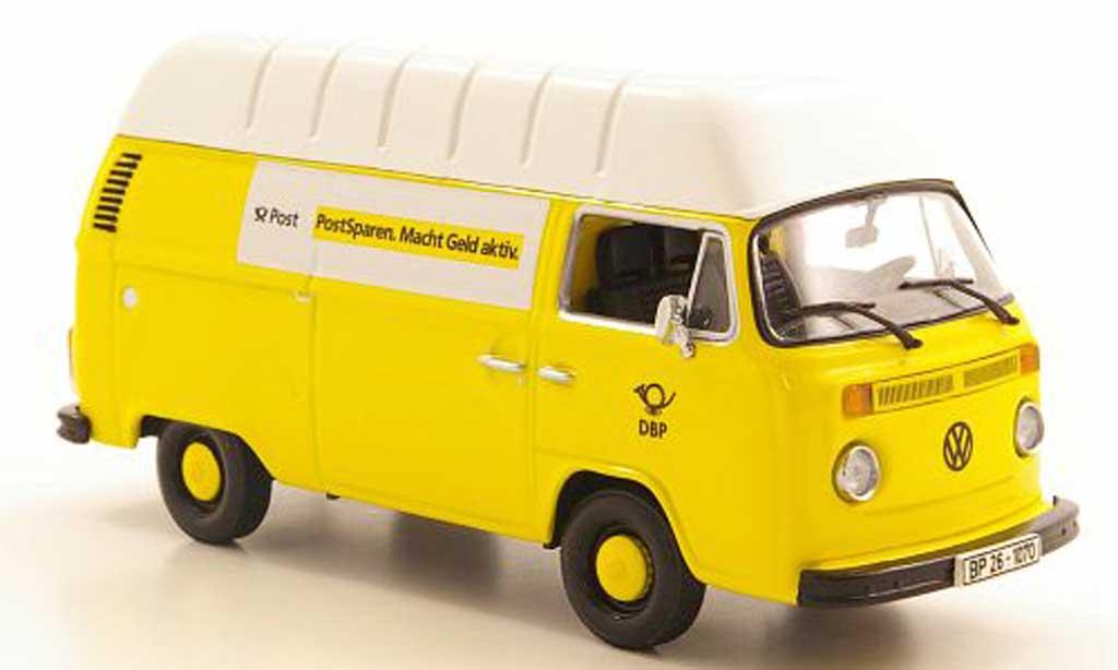 Volkswagen T2 B 1/43 Minichamps Kasten Hochdach Deutsche undespost 1972 diecast model cars