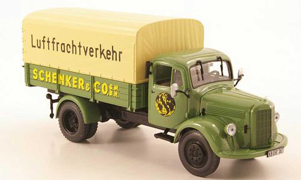 Mercedes L3500 1/43 Minichamps Pritsche/Plane Schenker Luftfrachtverkehr 1950 miniature