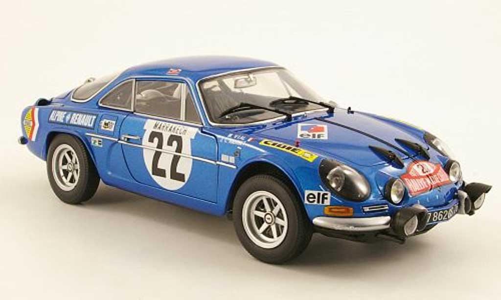 Alpine A110 1/18 Kyosho 1600S No.22 J.C.Andruet / M.Vial Rally Monte Carlo 1971 diecast model cars