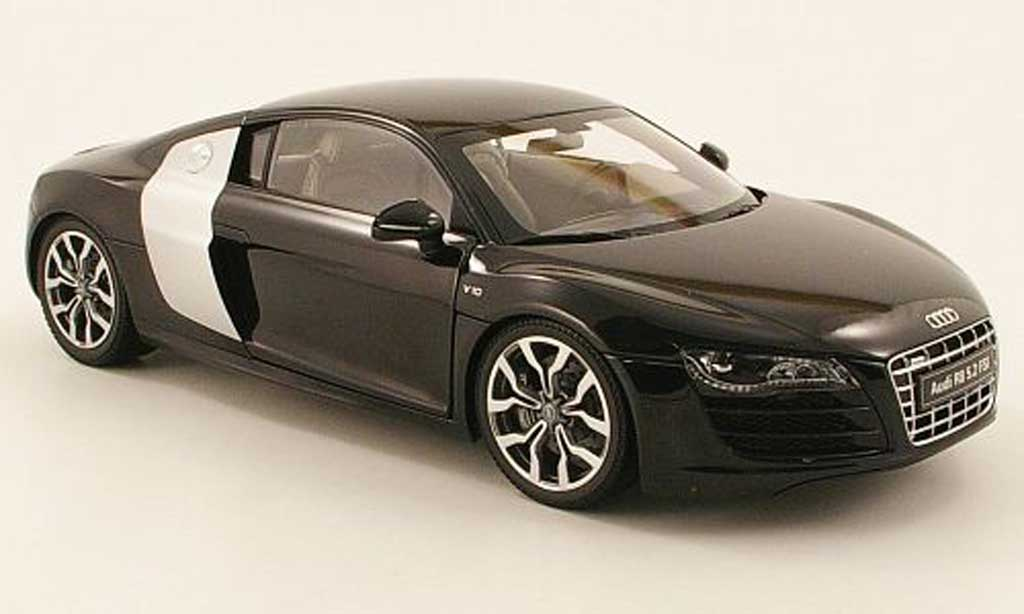 Audi R8 5.2 FSI 1/18 Kyosho quattro black 2009 diecast model cars