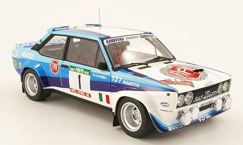 Fiat 131 Abarth 1/18 Kyosho abarth no.1 sieger rallye portugal 1981 diecast model cars
