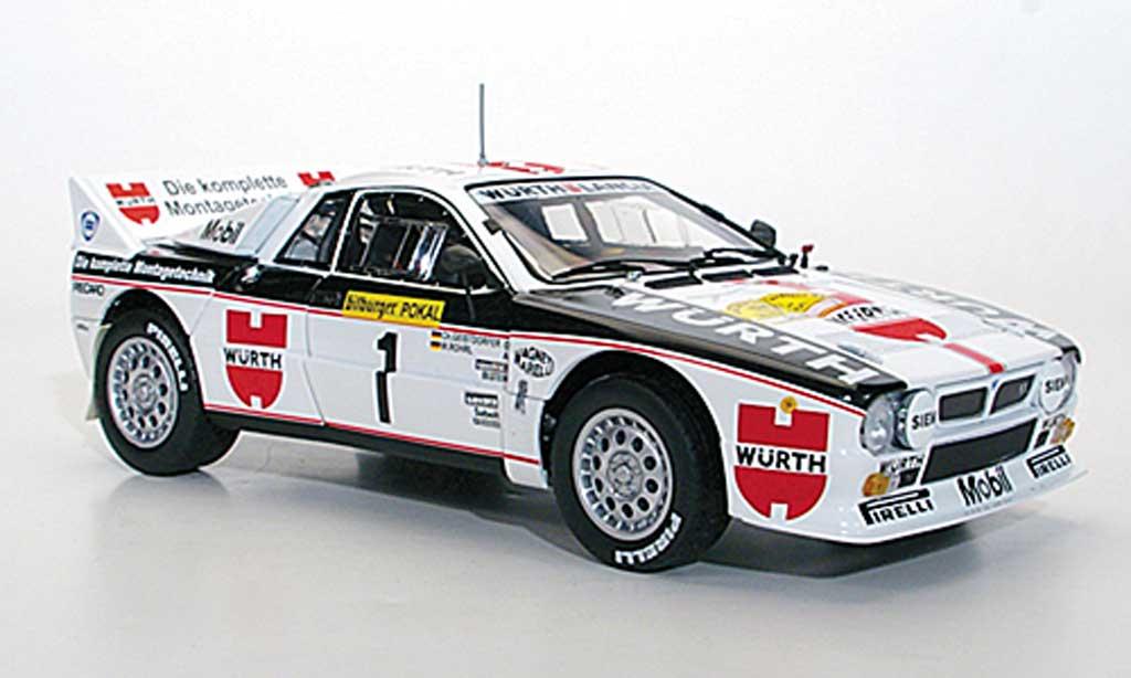 Lancia 37 1/18 Kyosho Rally No.1 Wurth W.Rohrl/C.Geistdorfer Rally Deutschland 1983 miniature