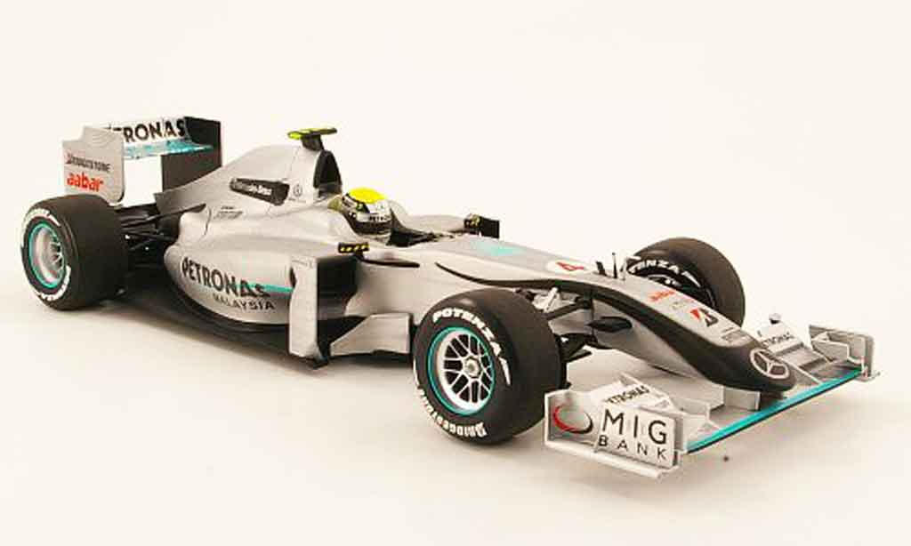 Mercedes F1 1/18 Minichamps gp no.4 petronas n.rosberg showcar 2010 miniature
