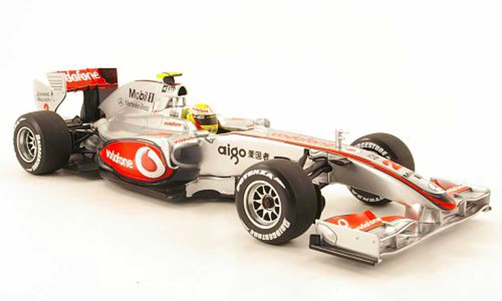 Mercedes F1 1/18 Minichamps mclaren no.2 vodafone showcar 2010 l.hamilton diecast