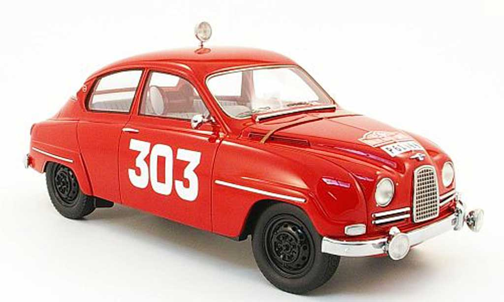 Saab 96 1/18 Neo No.303 Carlsson Rally Monte Carlo 12 miniature