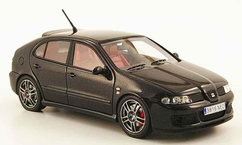 Seat Leon 1/43 Neo mk1 cupra r negro 2003 miniatura
