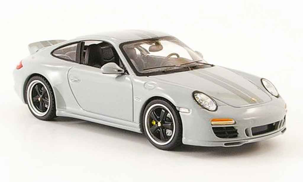 Porsche 997 Carrera 1/43 Schuco Sport Classic gray 2009 diecast