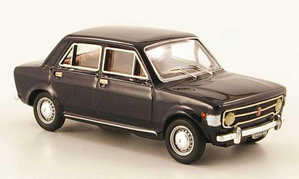 Fiat 128 1/43 Rio bleu 4-turig 1969 miniature
