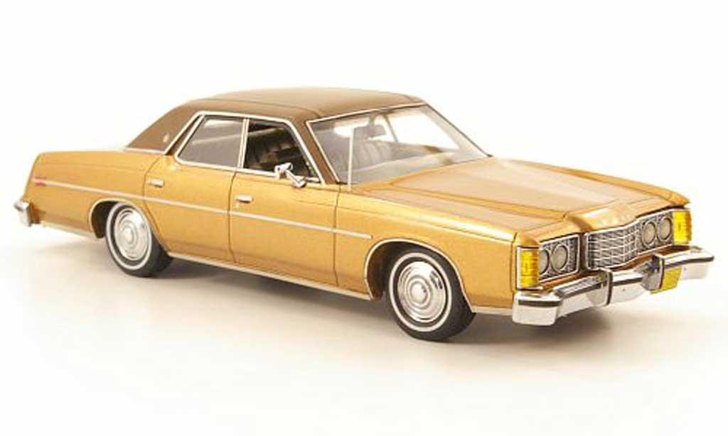 Ford LTD 1973 1/43 Neo LTD le cuivre/noire-brun miniature