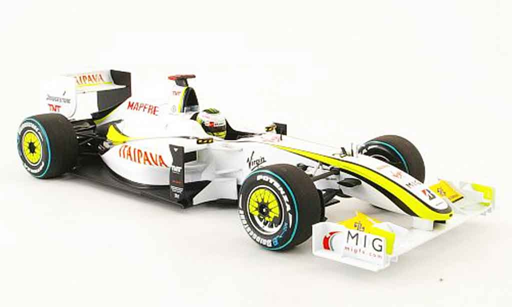 Mercedes F1 1/18 Minichamps brawn gp bgp001 no.22 j.button gp brasilien 2009 miniature