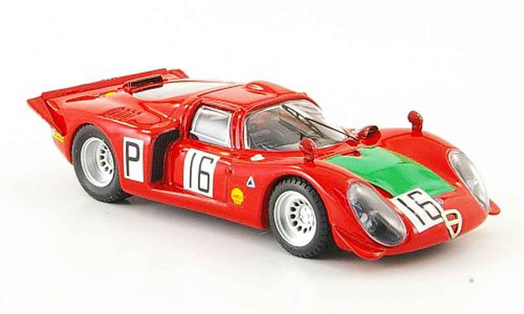 Alfa Romeo 33.2 1968 1/43 Best no.16 giunti galli nurburgring miniature