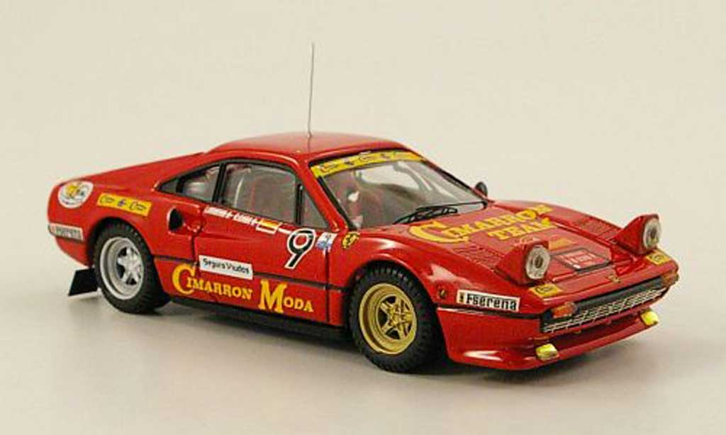 Ferrari 308 GTB 1/43 Best No.9 Cimarron Team Rally Spanien 1985 diecast model cars