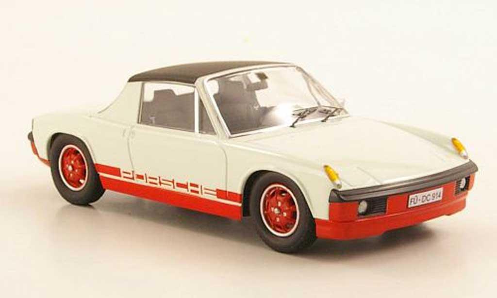 Porsche 914 1/43 Schuco elfenbein/rouge miniature