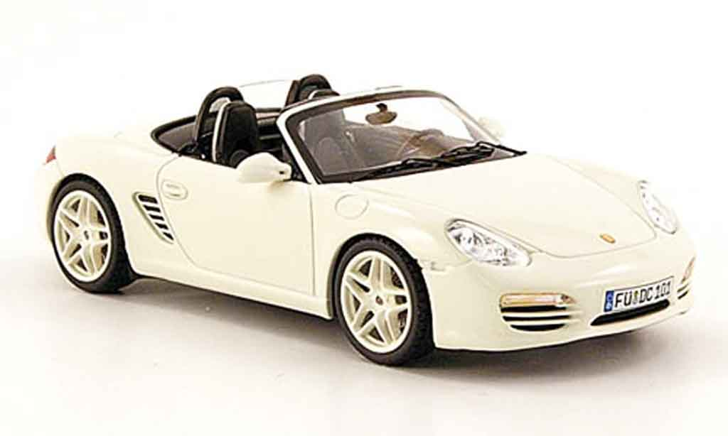 Porsche Boxster 1/43 Schuco (987) blanche miniature