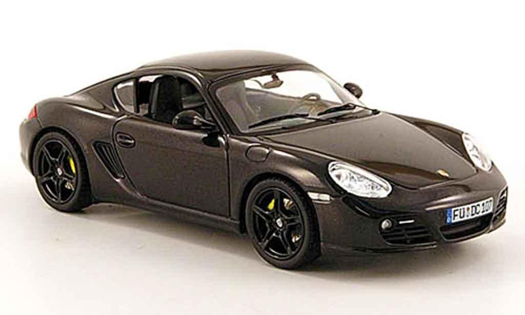 Porsche Cayman 1/43 Schuco S noire miniature