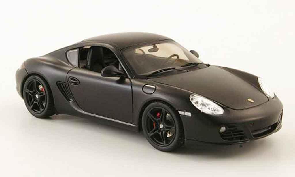 Porsche Cayman S 1/43 Schuco mattnoire concept black miniature