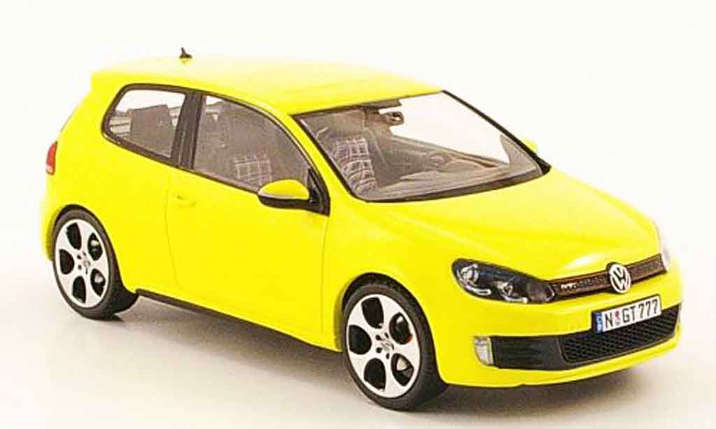 Volkswagen Golf VI GTI 1/43 Schuco yellow diecast model cars