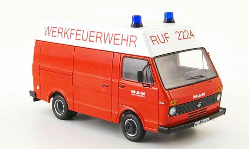 Volkswagen Combi 1/43 Schuco lt hochdachkasten man werkspompier modellautos