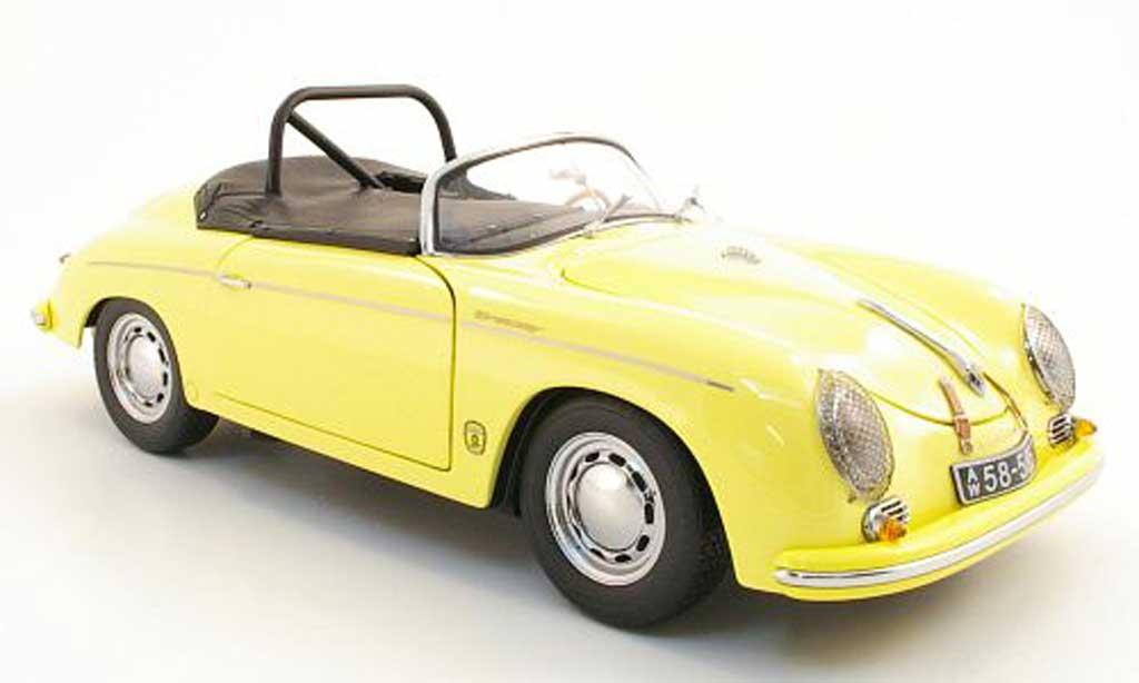 Porsche 356 1/18 Schuco A speedster 1600 gt jaune miniature