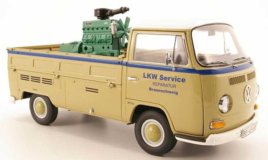 Volkswagen Combi 1/18 Schuco t2a pritsche lkw service mit ladegut diecast