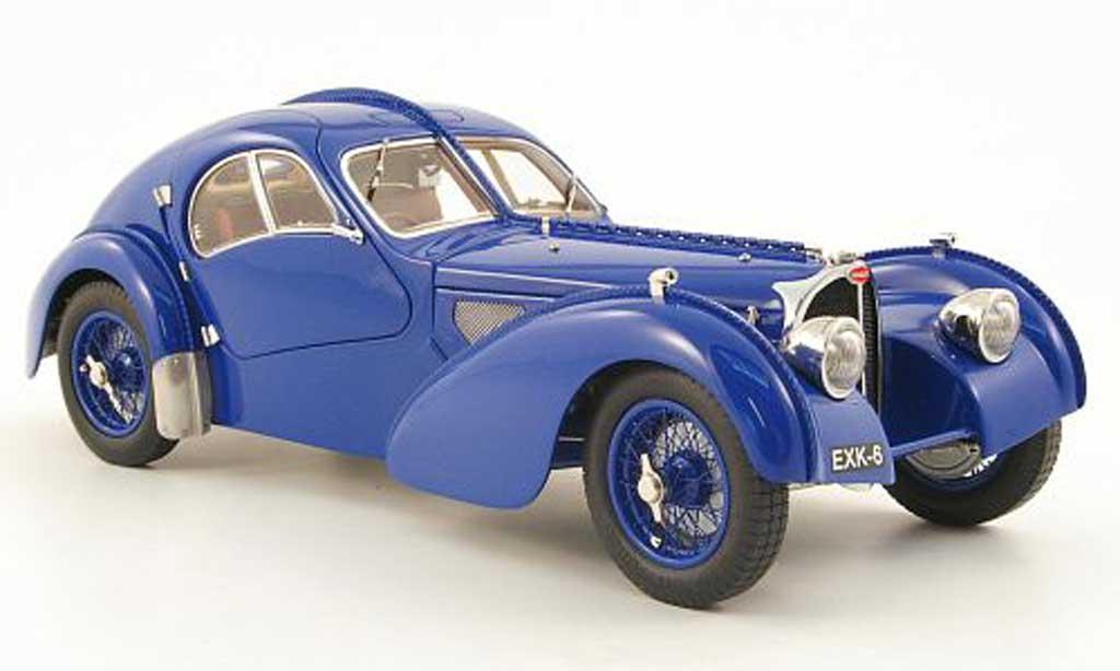 Bugatti 57 SC 1/18 CMC atlantic coupe bleu 1938 diecast model cars
